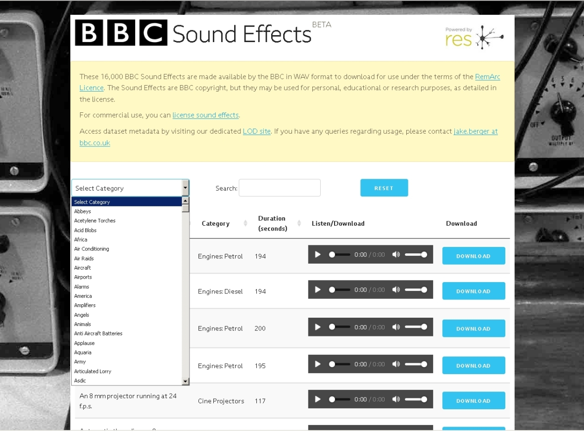 bbc sound effects